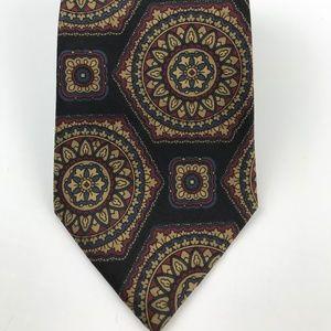 Aquascutum London Men's Silk Tie Geometric Print